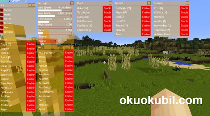 Minecraft Matrix Kill Aura-Fly-En İyi Tırmanma Hilesi İndir Her PVP