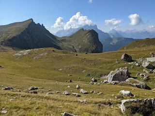 View from Mondevàl de Sora toward Monte Pelmo.