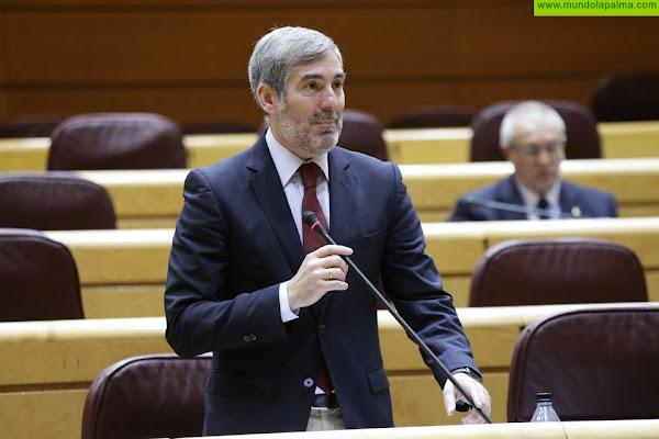 El Senado respalda la moción de Clavijo para que se inicien de inmediato las obras de regadío en La Palma, El Hierro y Tenerife
