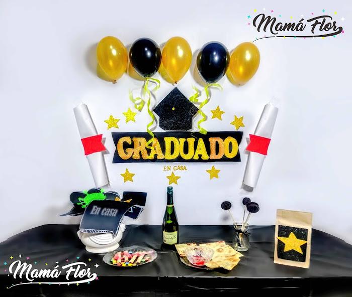 Decoración y Mesa Principal para Graduación