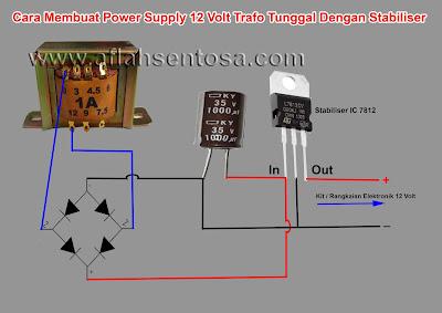 Cara Membuat Power Supply 12 Volt Menggunakan Stabilizer