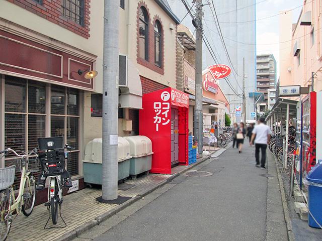 浦和駅西口のなかまち商店街のフジコインロッカー