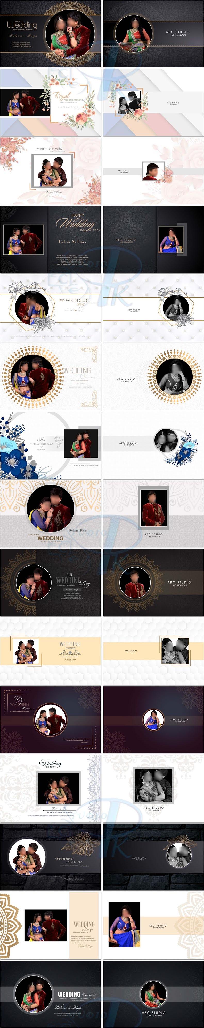 Luxury Photo Album 12x18 Cover Designs