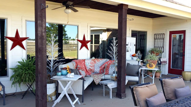Back Porch-House Hunting-Texas Hill Country House- From My Front Porch To Yours