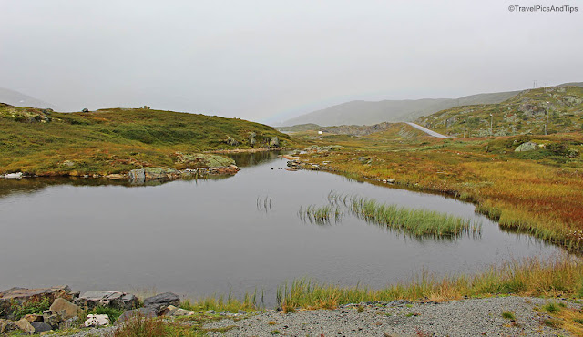 Pysages sur la route entre Oslo et Oystese, Norvège du sud