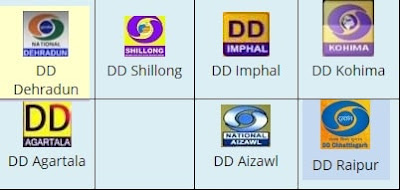 DD Free Dish shifted 7 Doordarshan Regional Channels to New LCN