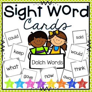 Dolch Sight Word Cards and lists by grade level
