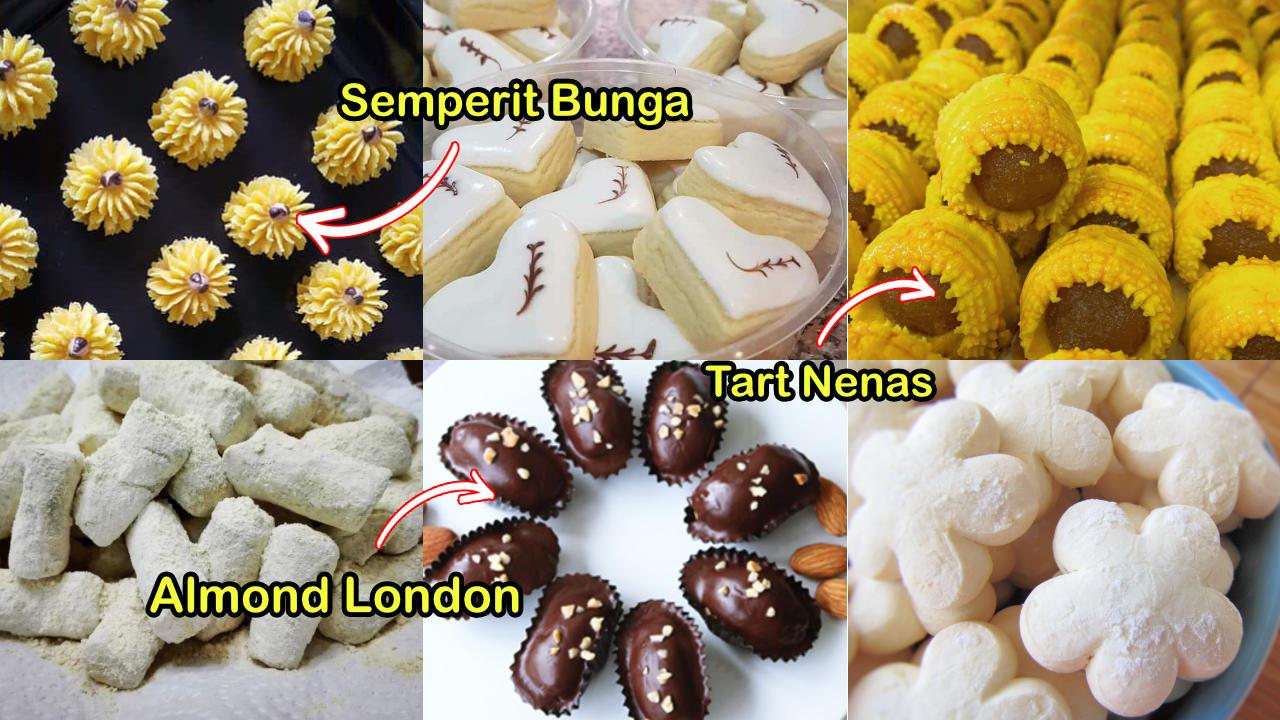 kuih dan biskut raya paling popular