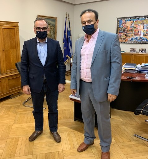 Συνάντηση βουλευτή Φλώρινας Γ. Αντωνιάδη με τον Αναπληρωτή υπ. Υγείας κ. Β. Κοντοζαμάνη