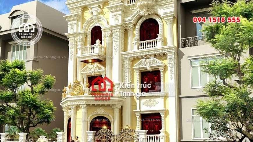 Thiết kế nhà phố 8m mặt tiền phong cách tân cổ điển đẹp nhất - Mã số NP1331 - Ảnh 1