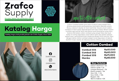 Price List Zrafco Supply Tahun 2020