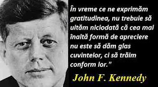 Maxima zilei: 29 mai - John F. Kennedy