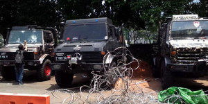 Kehebatan Truk Unimog 1300L yang Dipakai Massa Prabowo