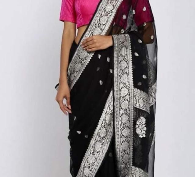 Pure Georgette Chiffon designer sarees
