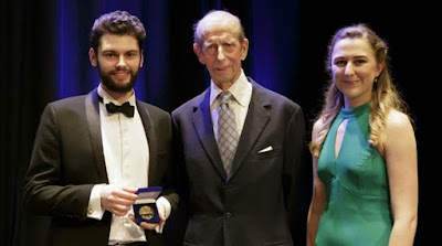 Theo Perry, HRH Duke of Kent, Olivia Fraser (Credit: Tas Kyprianou)