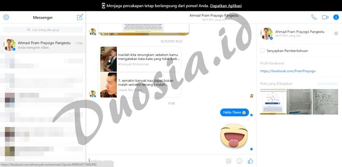 Chat di Messenger WEB