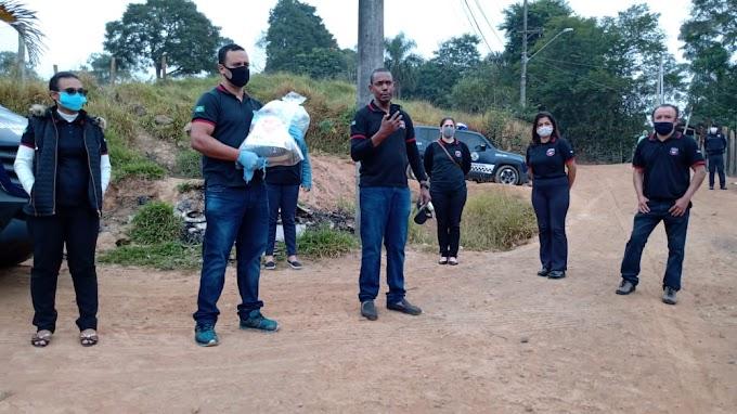 Ação social da UFP distribuíram cestas básicas no bairro do Caputera...