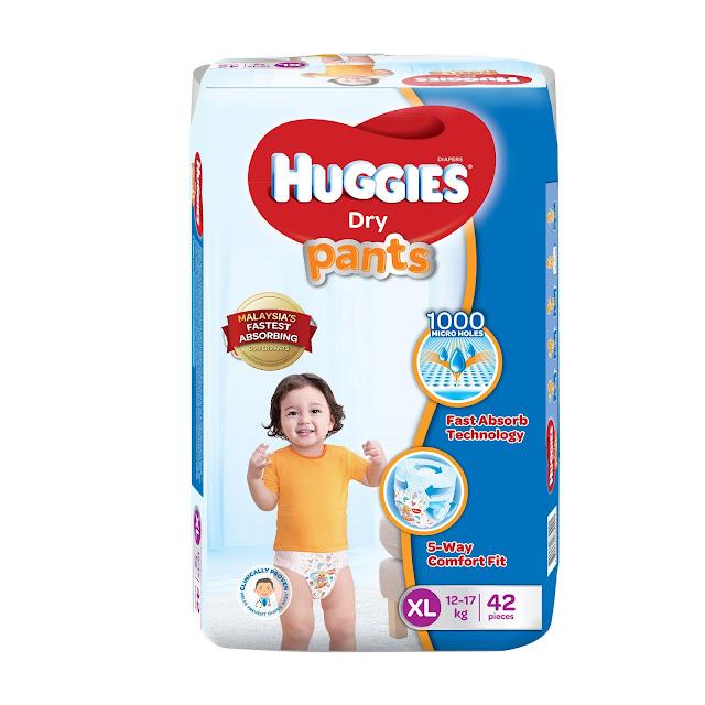 Huggies Dry Pants, Diapers Terbaik Pilihan Ibu Bapa Masa Kini