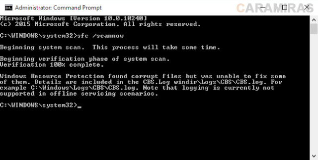 Memperbaiki File System Windows yang Rusak dan Hilang - cmd