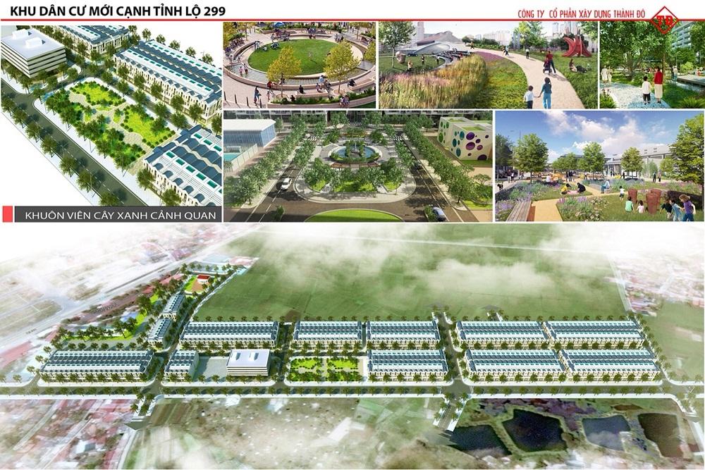 Quần thể công viên trong khu đô thị Dĩnh Trì Bắc Giang