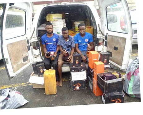 Police arrested Fake Hennessy, Moet & Chandon producers in Lagos