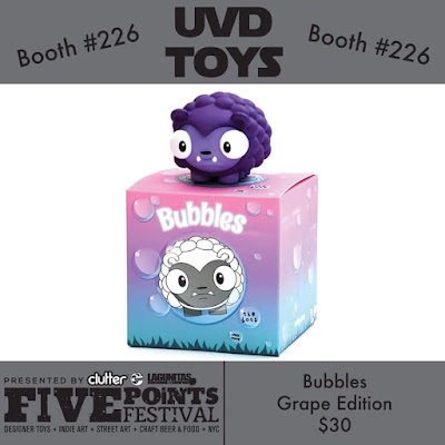 Five Points Festival 2019 Exclusive Grape Bubbles Vinyl Figure by The Bots x UVD Toys