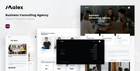 Best Business Consulting Agency Adobe XD Template