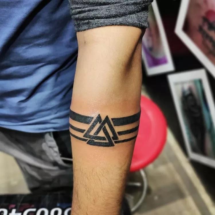 Medium, cool Arm band Tattoo Design Ideas