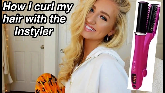 How I Curl My Hair Wtih The Instyler Hot Brush