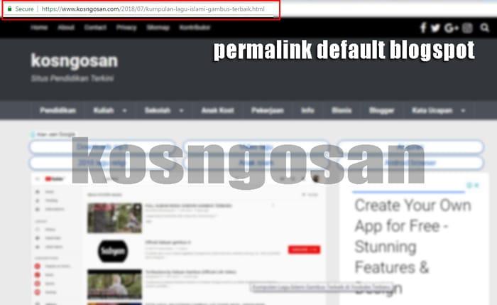 permalink default blogspot