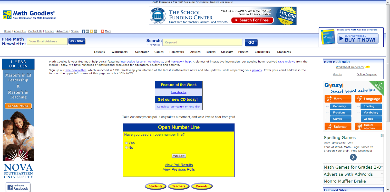 Learning Never Stops: 29 great math websites for students of