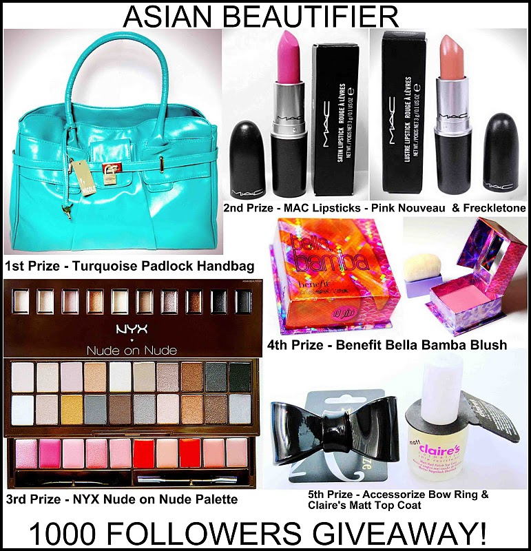 ASIAN BEAUTIFIER 1000 Followers Giveaway!
