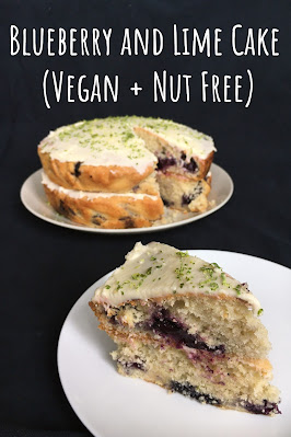 Blueberry and Lime Cake (Vegan + Nut Free)