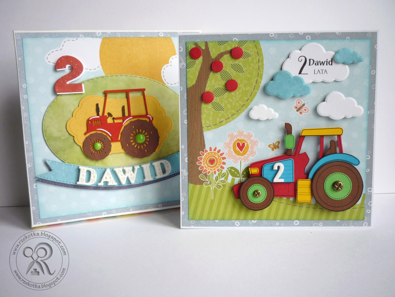 Kartka urodzinowa z traktorem