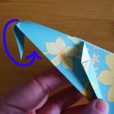Folding tip paper origami shoe back