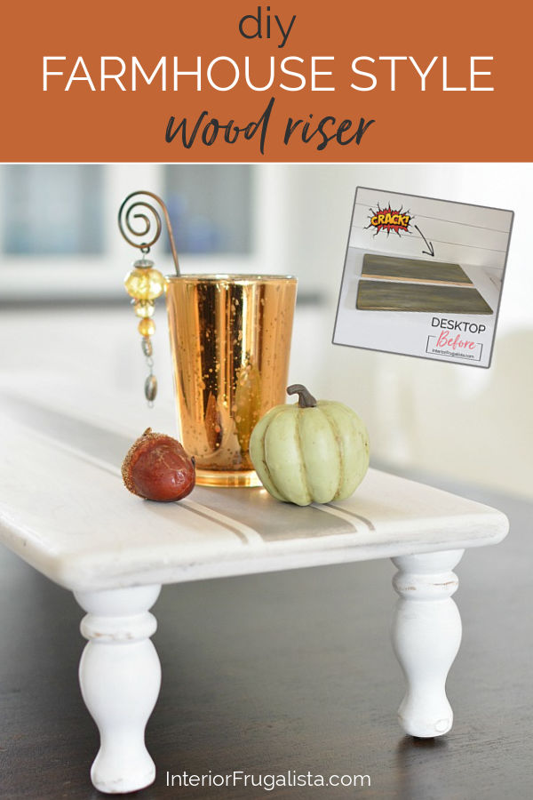 DIY Farmhouse Style Wood Riser