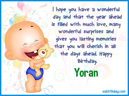 Yoran Happy birthday
