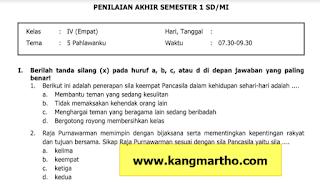 Soal PAS Kelas 4 Tema 5 SD/MI K13