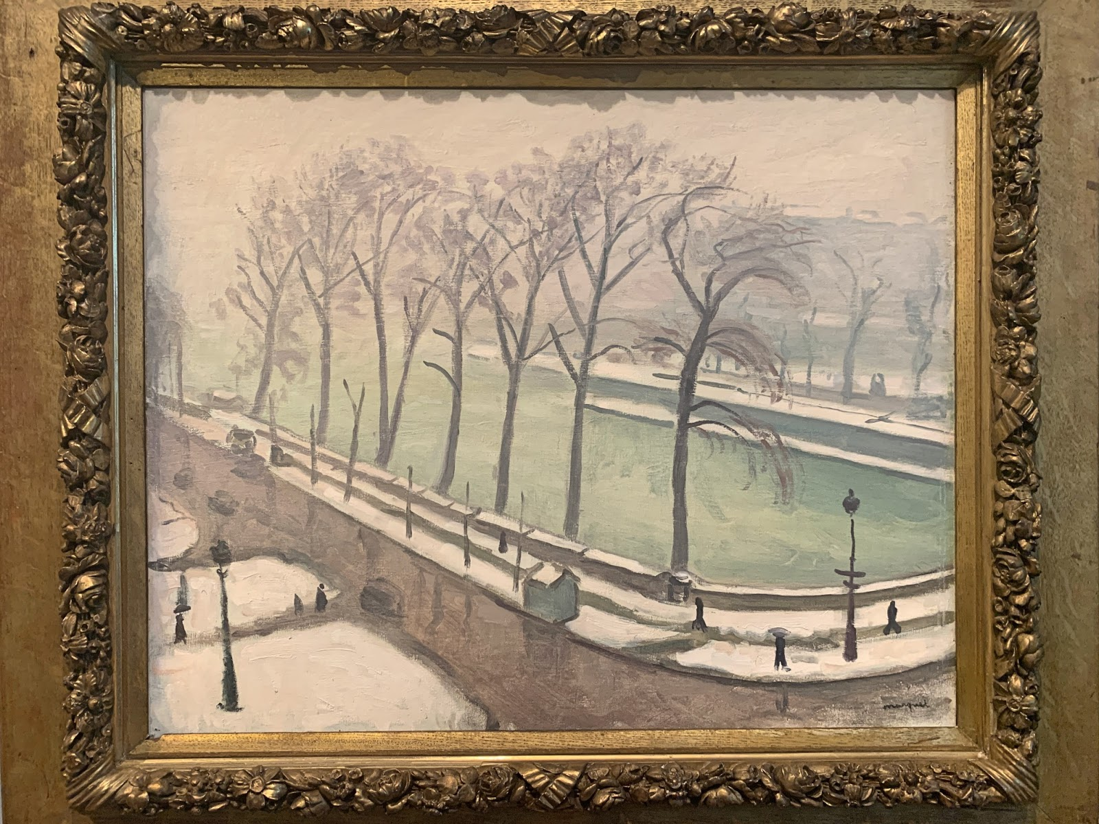 Albert Marquet, postimpresjonizm, fowizm, Pont-Neuf pod śniegiem