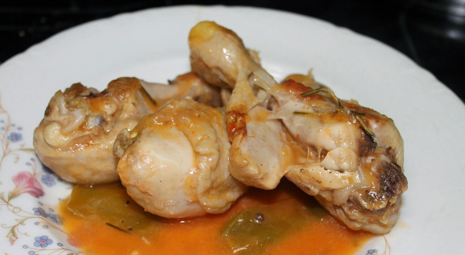 Las recetas de maria muslitos de pollo con pimientos - Muslitos de pollo ...
