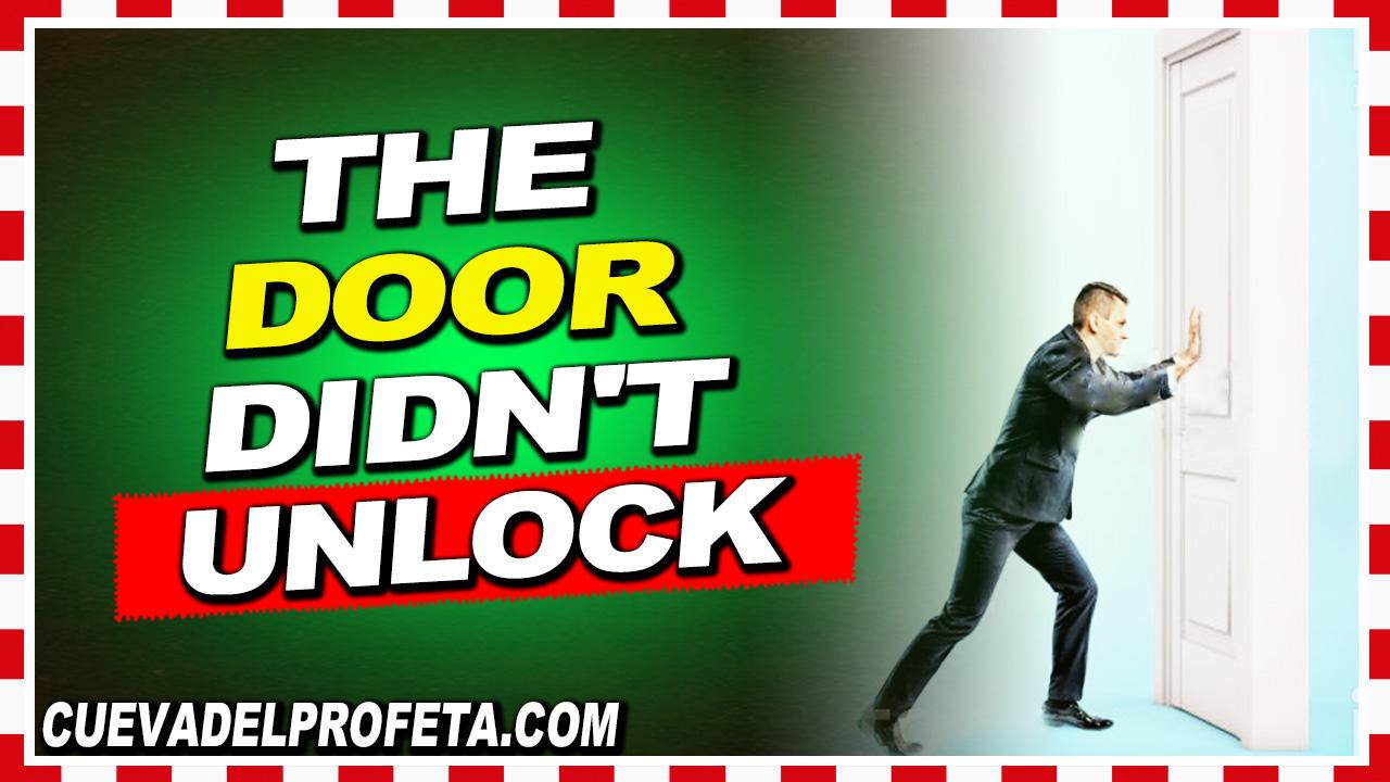 The door didn't unlock - William Marrion Branham