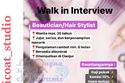 Walkin Interview Apricoat Studio (CIANJUR)