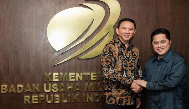 Erick Tohir Resmi Menunjuk Ahok Jadi Komisaris Utama PT Pertamina