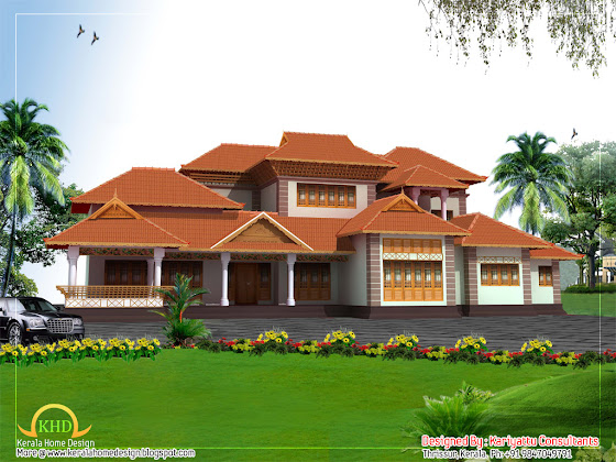 Kerala Style Home Architecture - 358 Sq M (3858 Sq. Ft.) - January 2012