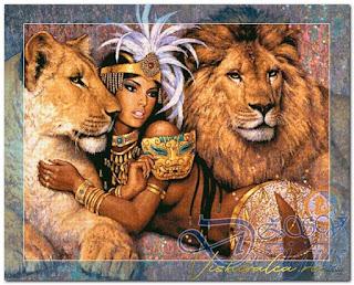 "Download cross stitch scheme 10-001 ""Lion's Woman"" ZSV"
