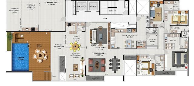 Planta Baixa One Residence