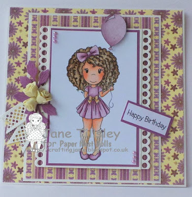 Paper Nest Dolls Challenge June 2017 Amara with Balloon Jane Tilsley