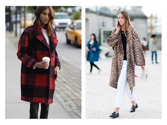 Девушки в узких джинсах и свободном пальто