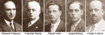 Componentes del equipo español que participó en la III Olimpiada de Ajedrez de Hamburgo 1930