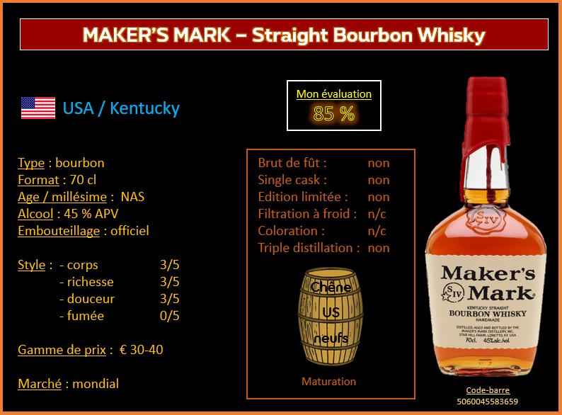 Review #764 : Maker's Mark – Straight Bourbon Whisky